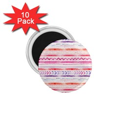 Watercolor Tribal Pattern 1 75  Magnets (10 Pack)