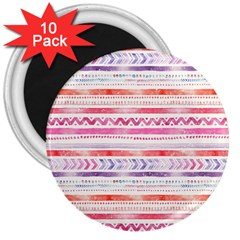 Watercolor Tribal Pattern 3  Magnets (10 Pack)