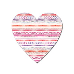 Watercolor Tribal Pattern Heart Magnet