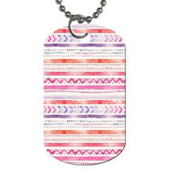 Watercolor Tribal Pattern Dog Tag (one Side) by tarastyle
