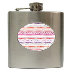Watercolor Tribal Pattern Hip Flask (6 Oz)