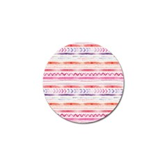 Watercolor Tribal Pattern Golf Ball Marker (10 Pack)