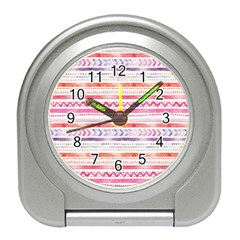 Watercolor Tribal Pattern Travel Alarm Clocks