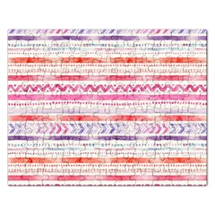 Watercolor Tribal Pattern Rectangular Jigsaw Puzzl