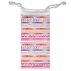 Watercolor Tribal Pattern Jewelry Bag
