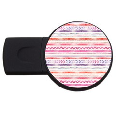 Watercolor Tribal Pattern Usb Flash Drive Round (4 Gb)