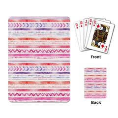 Watercolor Tribal Pattern Playing Card