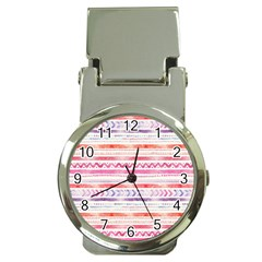 Watercolor Tribal Pattern Money Clip Watches