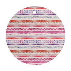 Watercolor Tribal Pattern Round Ornament (two Sides) by tarastyle