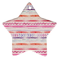 Watercolor Tribal Pattern Star Ornament (two Sides) by tarastyle