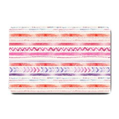Watercolor Tribal Pattern Small Doormat