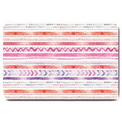 Watercolor Tribal Pattern Large Doormat