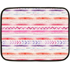 Watercolor Tribal Pattern Fleece Blanket (mini)