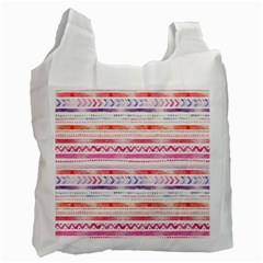 Watercolor Tribal Pattern Recycle Bag (one Side)