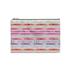 Watercolor Tribal Pattern Cosmetic Bag (medium)