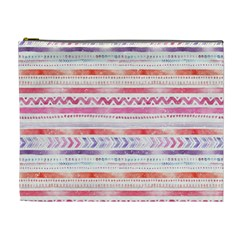 Watercolor Tribal Pattern Cosmetic Bag (xl)