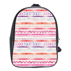 Watercolor Tribal Pattern School Bag (large)