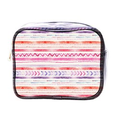 Watercolor Tribal Pattern Mini Toiletries Bags
