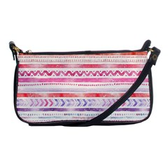 Watercolor Tribal Pattern Shoulder Clutch Bags