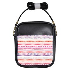 Watercolor Tribal Pattern Girls Sling Bags