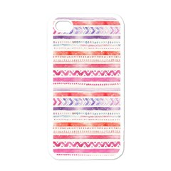 Watercolor Tribal Pattern Apple Iphone 4 Case (white)