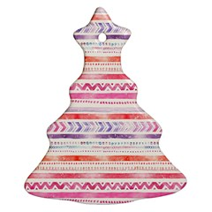 Watercolor Tribal Pattern Ornament (christmas Tree)