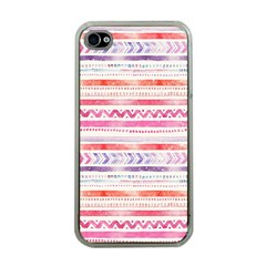 Watercolor Tribal Pattern Apple Iphone 4 Case (clear)