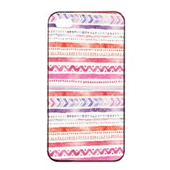 Watercolor Tribal Pattern Apple Iphone 4/4s Seamless Case (black)