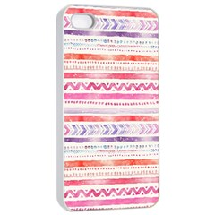 Watercolor Tribal Pattern Apple Iphone 4/4s Seamless Case (white)