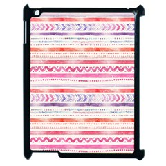 Watercolor Tribal Pattern Apple Ipad 2 Case (black)