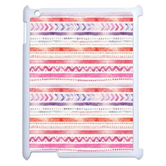 Watercolor Tribal Pattern Apple Ipad 2 Case (white)