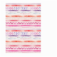 Watercolor Tribal Pattern Large Garden Flag (two Sides)