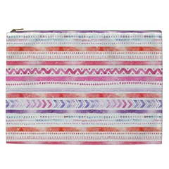 Watercolor Tribal Pattern Cosmetic Bag (xxl)  by tarastyle