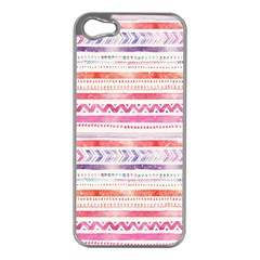Watercolor Tribal Pattern Apple Iphone 5 Case (silver)