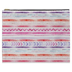 Watercolor Tribal Pattern Cosmetic Bag (xxxl)
