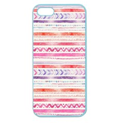 Watercolor Tribal Pattern Apple Seamless Iphone 5 Case (color) by tarastyle