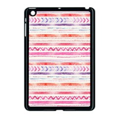 Watercolor Tribal Pattern Apple Ipad Mini Case (black)