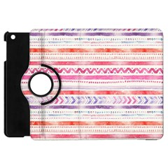 Watercolor Tribal Pattern Apple Ipad Mini Flip 360 Case