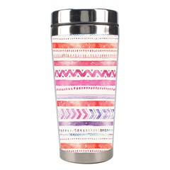 Watercolor Tribal Pattern Stainless Steel Travel Tumblers