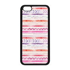 Watercolor Tribal Pattern Apple Iphone 5c Seamless Case (black)