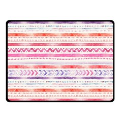 Watercolor Tribal Pattern Double Sided Fleece Blanket (small)  by tarastyle