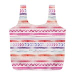 Watercolor Tribal Pattern Full Print Recycle Bags (L)  Back