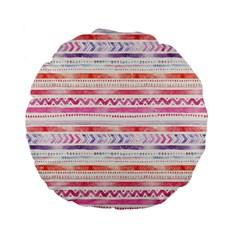 Watercolor Tribal Pattern Standard 15  Premium Flano Round Cushions