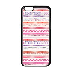 Watercolor Tribal Pattern Apple Iphone 6/6s Black Enamel Case