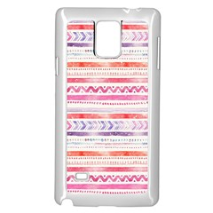 Watercolor Tribal Pattern Samsung Galaxy Note 4 Case (white)