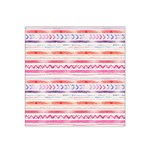 Watercolor Tribal Pattern Satin Bandana Scarf Front