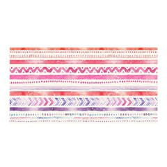 Watercolor Tribal Pattern Satin Wrap