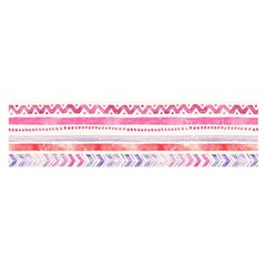 Watercolor Tribal Pattern Satin Scarf (oblong)