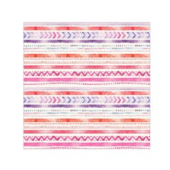 Watercolor Tribal Pattern Small Satin Scarf (square)