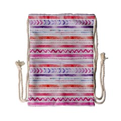 Watercolor Tribal Pattern Drawstring Bag (small)